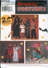 Simplicity 9168 2 Hour Express Witch Pirate Devil Genie Costume Pattern UNCUT