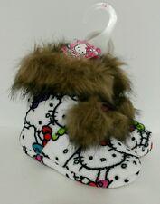 HELLO KITTY Saniro Girls Plush Faux Fur Trim Slipper Boot SZ 13/1 NWT New 835