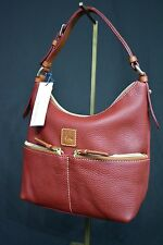 NWT! Dooney & Bourke Dillen Leather Small Pocket Satchel in Cranberry. Leather