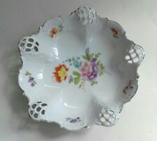 Rosenthal Moliere Bavaria Floral Pattern Cut Out Dish