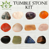Natural Crystal Tumble Stone Kit for Reiki Healing & Crystal Healing