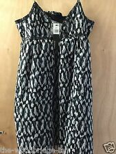 Atmosphere Size 14 Black Sequinned Ladies Elasticated Back Lined Dress 2w