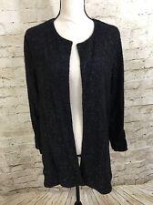 NEW SLINKY BRAND Black Shimmer Knit Jacket E3069