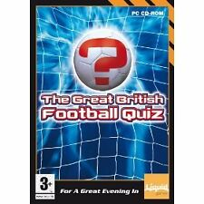 GREAT BRITISH FOOTBALL QUIZ PC CD-ROM + FREE SEGA SOCCER PC GAME !!