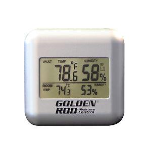 Golden Rod Gun Safe Hygrometer Humidity Monitor Wireless Remote Digital Sensor