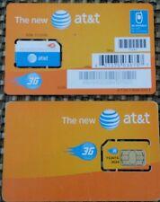 New At&T Sim Cards 3G Sku 71247