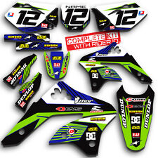 2006 2007 2008 KXF 250 GRAPHICS KIT KAWASAKI KX250F KX F 250F   DECO DECAL