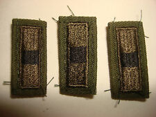 Group Of 3 US Army  WARRANT OFFICER 1 Subdued Collar Patches *Removed From Shirt