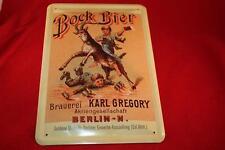 Bock Bier Brauerei Berlin Blechschild 20x30 cm Bier Schild - Beer Sign Tin Plate