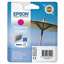 2 PEZZI ORIGINALE EPSON T0443 MAGENTA PER C64 C84 C86 CX6400 CX6600 NUOVO