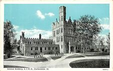 1940s Printed Postcard; Science Building S.I.N.U., Carbondale IL Jackson County