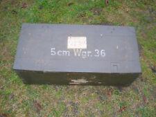 Munitionskiste  WaA 5cm GRW36 empty Box  Wehrmacht Mörser