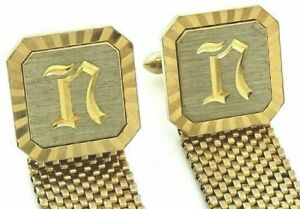 Vintage Swank Initial S Cuff Links