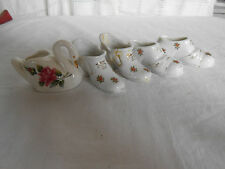Isco Japan porcelain shoes & unmarked swan
