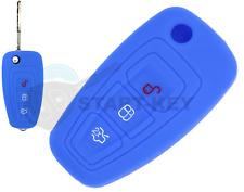 Ford Schlüssel Hülle B C max Focus Ranger Tourneo Transit Connect Galaxy Blau