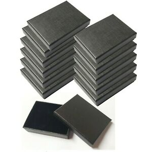 12 x BLACK JEWELLERY GIFT BOXES FOR NECKLACE EARRINGS BRACELET WHOLESALE - UK