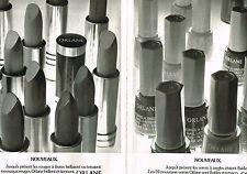 PUBLICITE ADVERTISING 104  1974  ORLANE cosmétiques rouge à lèvres et vernis (2p