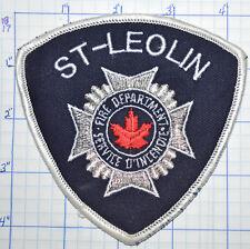 CANADA, ST-LEOLIN FIRE DEPT SERVICE D'INCENDIE QUEBEC PATCH