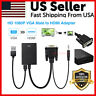 VGA To HDMI Converter 1080P HD Adapter With Audio Cable For HDTV PC Laptop TV US