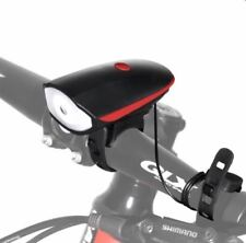 Bike Horn Light - Ultra Loud 140db 5Sound Mode Cycling Horn & 250 Lumens (Red)