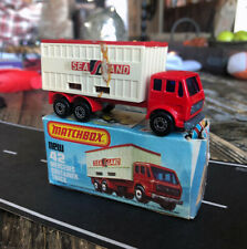 1977 Matchbox Superfast #42 Mercedes Container Truck SEA LAND w/ Box Lesney