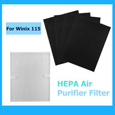 True Hepa Air cleaner Purifier+4 Carbon Filters For Winix 115 Size 21 PlasmaWave