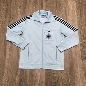 Adidas Germany Soccer Track Jacket XL Blue Football Deutscher Fussball 1974