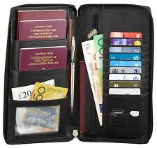 ✅RFID Blocking Travel Leather Document Organiser  Holiday Wallet Passport Holder