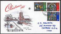 Christmas 1971 Stuarts First Day Cover - Stamps SG894 to SG896