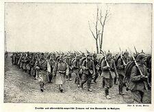 1915 Galizien * Deutsche und k.u.k.Soldaten auf dem Vormarsch *  WW1