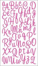 Pink Glitter Scrapbooking Stickers