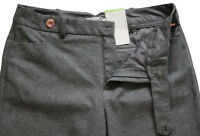 New Marks & Spencer Per Una Grey Wool Wide Trousers Size 12 Petite LABEL FAULT