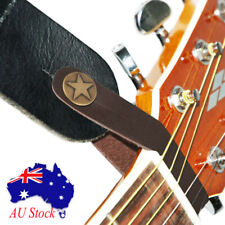 Genuine Leather Guitar Strap Button Hook for Acoustic/Folk/ Classic Guitar Brown