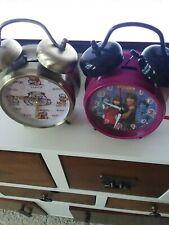 (2) Walt Disney Alarm Clocks, Winnie The Pooh And Camp Rock, Used, Working