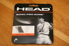 HEAD TENNIS STRING SONIC PRO EDGE 16 BLACK, 1 Pack of 40 ft