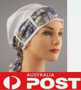 Fitted Alopecia Hat Cap + Bandana Scarf Head Wrap Colours Chemo Thread Through