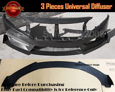 Universal Bumper Lip Spoiler Diffuser Splitter Winglet Body Kit For VW Porsche..