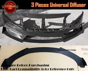 Universal Bumper Lip Spoiler Diffuser Splitter Winglet Body Kit For VW Porsche..