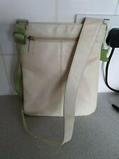 RADLEY Classic Style Leather Cross Body Pocket Bag CREAM