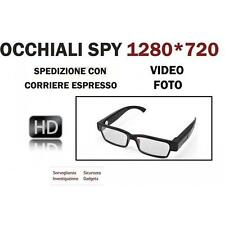 OCCHIALI DA VISTA SPIA FULL HD SPY CAMERA CAM VIDEOCAMERA OCCULTATA DVR 1280x720