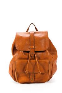 Madewell Womens Medium Brown Leather Backpack Handbag