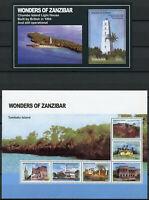 Tanzania Stamps 2011 MNH Wonders of Zanzibar Lighthouses Tourism 6v M/S 1v S/S