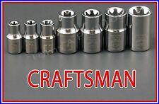 CRAFTSMAN HAND TOOLS 7pc LOT External Torx / Star bit ratchet wrench socket set