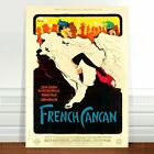 """Vintage Burlesque Poster Art ~ CANVAS PRINT 16x12"""" French Cancan"""
