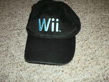 Nintendo Wii black adjustable hat cap 100% cotton