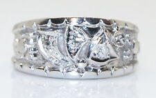 Rare Antique Kinsley & Sons 14K White Gold .06 Ct Diamond Band/Ring Size 5.75