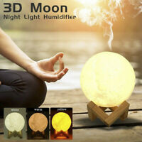 3D Moon Lamp 880mL Aroma Humidifier Diffuser Essential Air Purifier USB Light DP