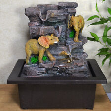 Elephant On Stone Water Fountain With Light Perfect Indoor Water Feature