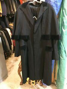 Vtg antique Sherlock Holmes victorian steampunk gothic cape mens coat sz large