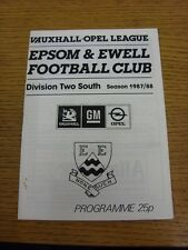 03/10/1987 Epsom And Ewell v Bracknell Town [FA Trophy] (Tiny Rusty Marks). Than